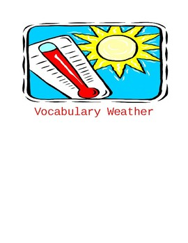Weather Vocabulary Lesson Unit