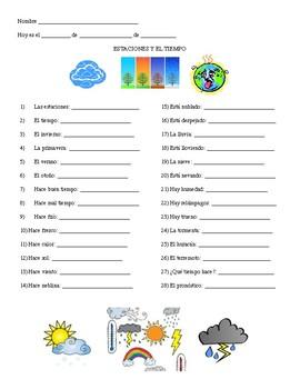 Weather Vocabulary List
