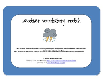 Weather Vocabulary Match