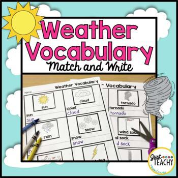 Weather Vocabulary Match and Write