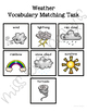 Weather Vocabulary Matching Folder Game for students with Autism