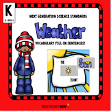 Weather Vocabulary  (NGSS K-ESS2-1)