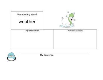 Weather Vocabulary Organizer