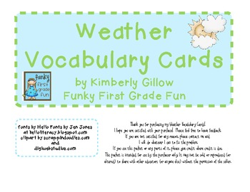 Weather Vocabulary Pack