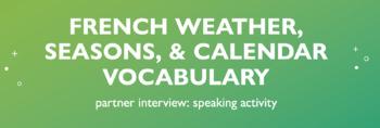 Weather Vocabulary : Partner Interview Speaking Activity