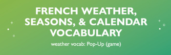 Weather Vocabulary : Pop-Up Game