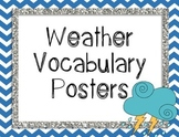 Weather Vocabulary Posters {Word Wall Printable}