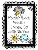 Weather Vocabulary Practice
