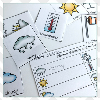 Weather Vocabulary Practice - Write The Room