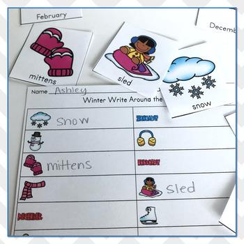 Winter Vocabulary Practice - Write The Room