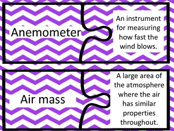 Weather Vocabulary Puzzles - 4th Grade GPS
