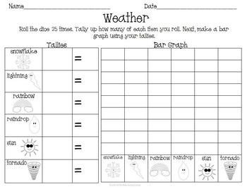 Weather Fun Activity Pack Set Reading Math & Writing