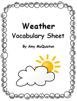 Weather Vocabulary Sheet