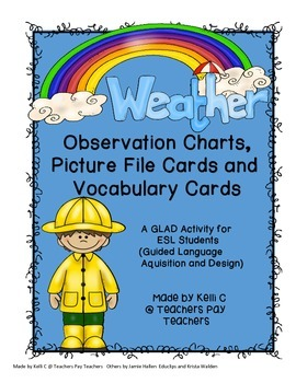 Weather Vocabulary Strategies from GLAD- Observation Chart