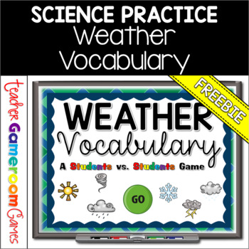 Weather Vocabulary Student vs Student Powerpoint Game
