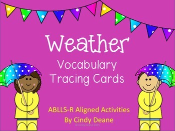 Weather Vocabulary Tracing Cards