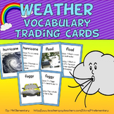 Weather Vocabulary Trading Cards