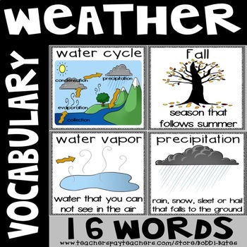 Weather Vocabulary Word Posters