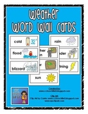Weather Vocabulary Word Wall Cards