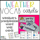 Weather Vocabulary Word Wall Cards for Science