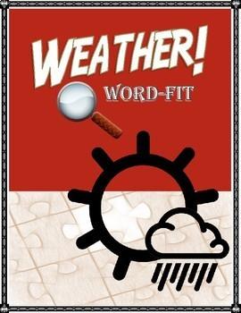 Weather Vocabulary WordFit Puzzle
