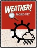 Weather & Water Cycle Vocabulary Review WordFit Puzzle; Earth Science