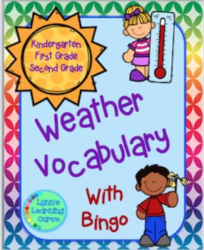 Weather Vocabulary and Bingo