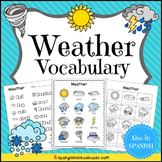 Weather Vocabulary for ELLs