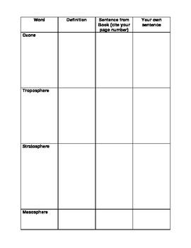 Weather Vocabulary worksheet