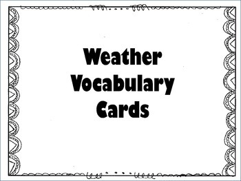 Weather VocabularyCards