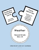 Weather Vocabulary:Word Wall Cards and Puzzle Pieces SOL 2.6