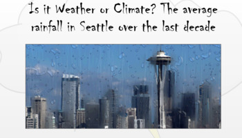 Weather Vs. Climate PowerPoint
