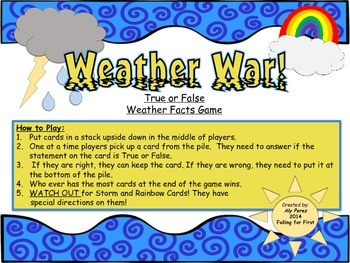 Weather War! True or False Fact Game