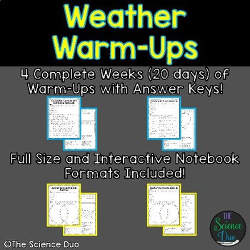 Weather Warm-Ups (Bell Ringers)