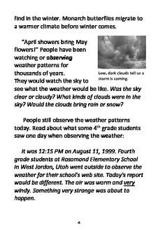 Weather Watchers Booklet