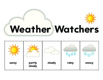 Weather Watcher's Journal & Picture Poster -Word Bank Seas
