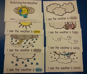 Weather Watching coloring booklet English only  (4 pgs) cscope common core