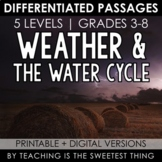 Weather & Water Cycle: Passages - Distance Learning Compatible