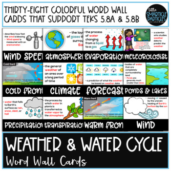 Weather & Water Cycle Word Wall