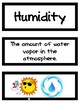 Weather, Water, and Astronomy Word Wall/Vocabulary Cards