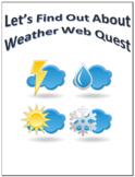 Weather Webquest Scavenger Hunt Science Common Core Activity 4-6