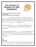 Weather Webquest for Kids