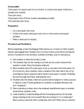 Weather Lesson Plan Week #1