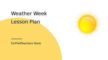 Weather Week Lesson Plan