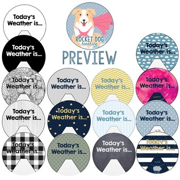 Weather Wheel for Classroom Display and Student Activity