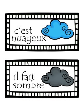 French Weather Cards