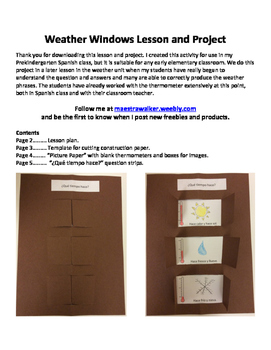 Weather Windows Lesson and Project - Spanish