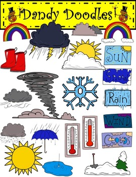 Weather Wise Clip Art by Dandy Doodles