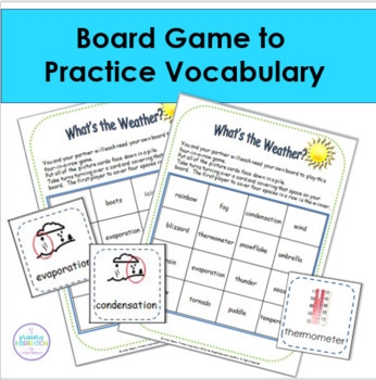 Weather Vocabulary Riddles