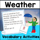 Weather and Climate Vocabulary Riddles